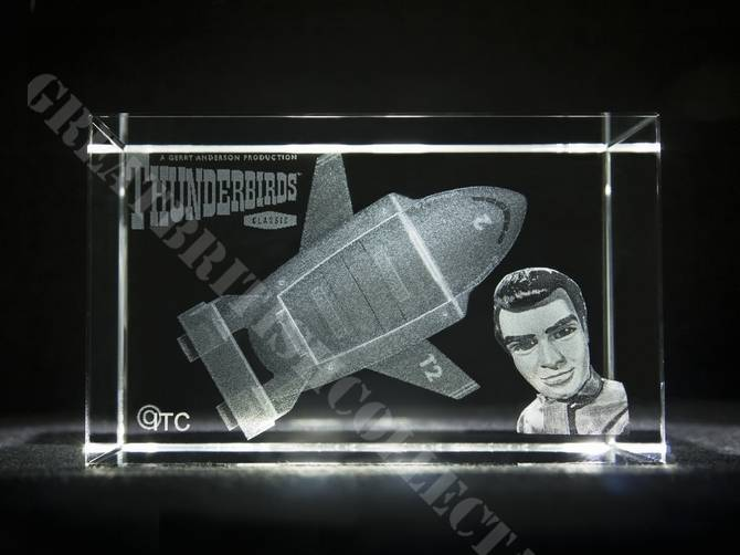 Thunderbird Two Laser Etched Glass Crystal Sold Out