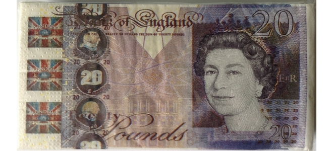 Novelty £20 Note Design 3 Ply Paper Napkins