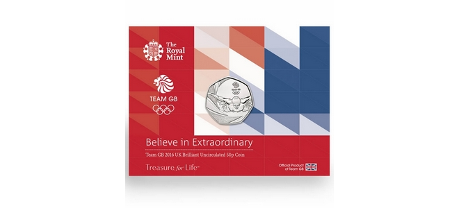 Royal Mint Team GB 2016 50p Coin