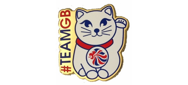 Team GB Maneki-Neko Pin