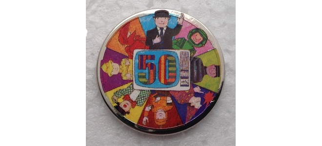 Mr Benn 50th Anniversary Logo Pin