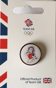 Team GB Pride Mascot - Rugby Pictogram Pin