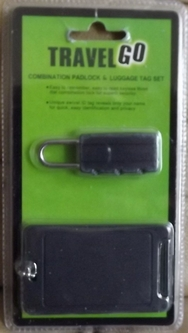 Travel Luggage Tag And Combination Padlock