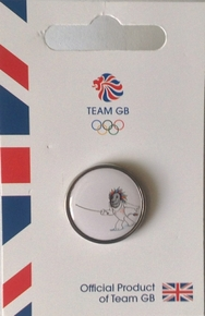 Official Team GB Pride Mascot Fencing Pin