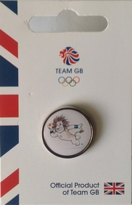 Official Team GB Pride Mascot Handball Pin
