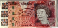 Novelty £50 Note Design 3 Ply Paper Napkins - Pack of 12