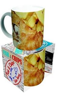 Novelty Fish And Chips Mug