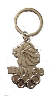 Team GB Silver Lions Head Keyring