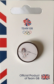 Team GB Pride Mascot - Athletics Pictogram Pin