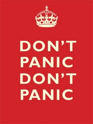 Dont Panic Dont Panic Wall Sign