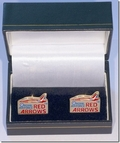 Official RAF Red Arrows Gold Plated Cufflinks