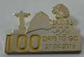Official Team GB 100 Days To Go Olympic Pin