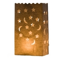 Garden Star And Moon Tea Light Bags (Pack of Ten)