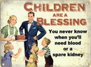 Children Are A Blessing - Metal Wall Sign