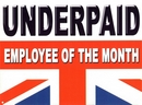 Underpaid Employee Of The Month - Metal Wall Sign