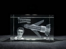 Thunderbird One Laser Etched Glass Crystal