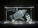 Thunderbird Two Laser Etched Crystal