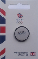Team GB Pride Mascot - Swimming Pictogram Pin