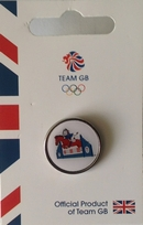 Official Team GB Pride Mascot Equestrian Pin