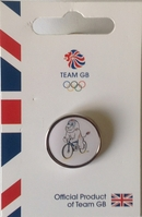 Official Team GB Pride Mascot Cycling Pin