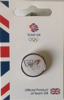 Official Team GB Pride Mascot Basketball Pin