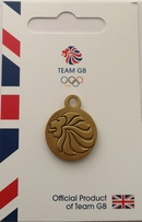 Team GB Replica Lions Head Medallion Zip Pull