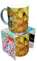 Novelty Fish And Chips Mug
