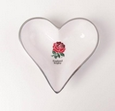 England Rugby Heart Dish