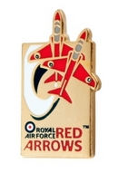 Red Arrows 50th Season Swoosh Pin