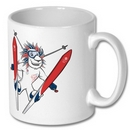 Team GB Mascot Skiing Mug