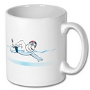 Team GB Mascot Swimming Mug