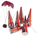 Union Jack Parachute Party Poppers (24 Poppers)