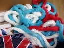 Red White And Blue Hawaiian Garlands (12's)