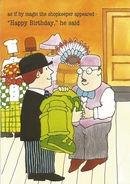 Mr Benn Shop Birthday Card