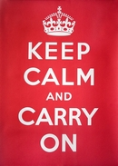 Keep Calm and Carry On Wall Sign
