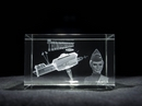 Thunderbird Five Laser Etched 3D Glass Crystal